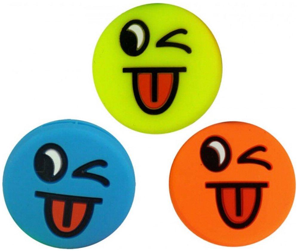 3 Tennis Vibration Dampener Smiley Emoji Tongue Pro H098kx3f