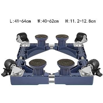 Base de la Lavadora móvil Soporte Universal de la Rueda del Rodillo Plataforma Alta Soporte Ajustable Soporte de elevación (Color : D2): Amazon.es: Hogar