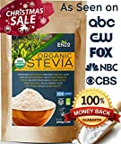 Easy Use Organic Stevia Powder 200g (7.05oz / 1600 Servings) All Natural Alternative Sweetener 12 x Sweeter than Processed Sugar USDA Certified No Artificial additives & fillers ingredients