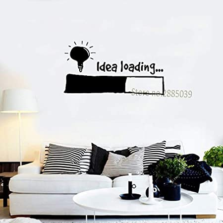 haotong11 Idea Cargando Pegatinas de Pared Bombilla Lámpara Ventana Coche DIY Etiqueta Calcomanía de Vinilo Silueta Clip Art Vector Plotter Corte Decoración 38 * 61 cm: Amazon.es: Hogar