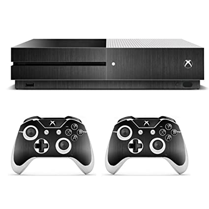 Faceplates, Decals & Stickers Solids Collection Color Black Skin Bundle Skin Fits Xbox One S System Video Game Accessories