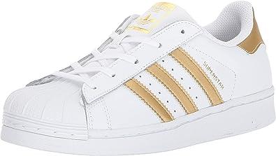 ADIDAS Superstar I Baby Bambini Scarpe in Pelle Sneaker ragazza grigio chiaro argento