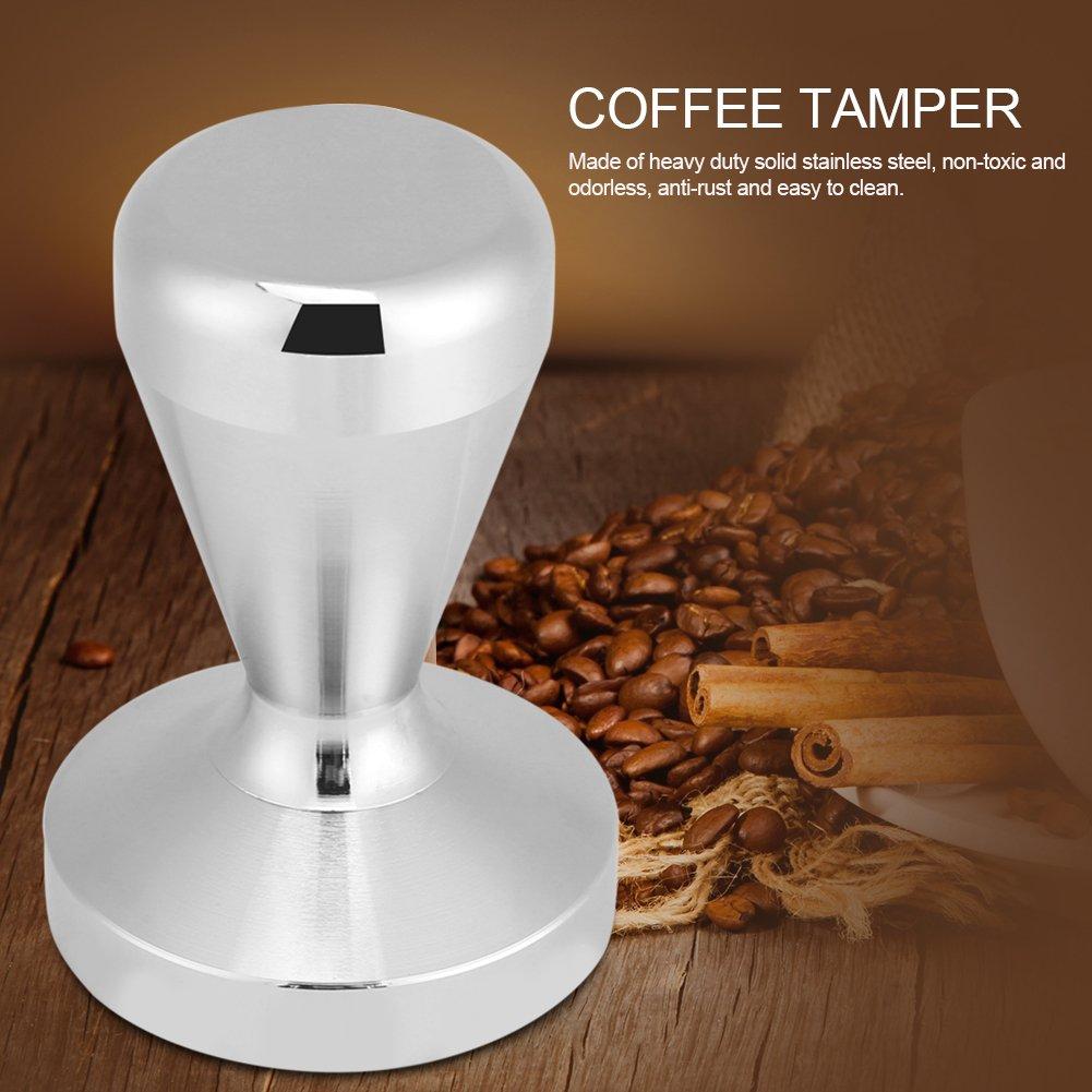 Stainless Steel Coffee Tamper Aramox Barista Espresso Flat Base Coffee Bean Press Tool 49cm