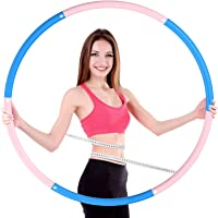 OUZIGRT Fitness Hoelahoep 1 kg, Hula Hoop voor Volwassenen, 6 Segments Afneembare Hoelahoep voor Gewichtsverlies…