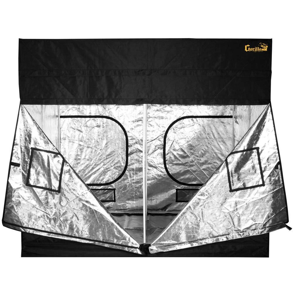Gorilla GGT88, 8' x 8' (2 Boxes) Grow Tent, 8'W X 8'L X 7'H Black
