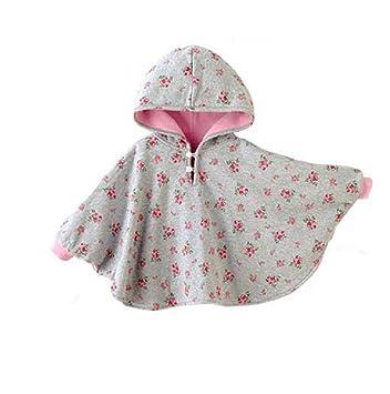 b4b2e7732befb Amorar Manteau de Cape Cloak Coat Bébé Sweat À Capuche Poncho Veste d'hiver  pour