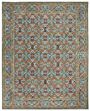 Cheap Safavieh HG741W-8 Heritage Collection Premium Wool Area Rug, 7'6″ x 9'6″, Sage/Blue