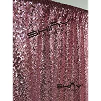 3FTX6FT-Fuchsia Pink-Sequin Backdrop Photo Booth Curtain Blue Sequin Fabric Wedding/Birthday Christmas Decorations (Fuchsia Pink)