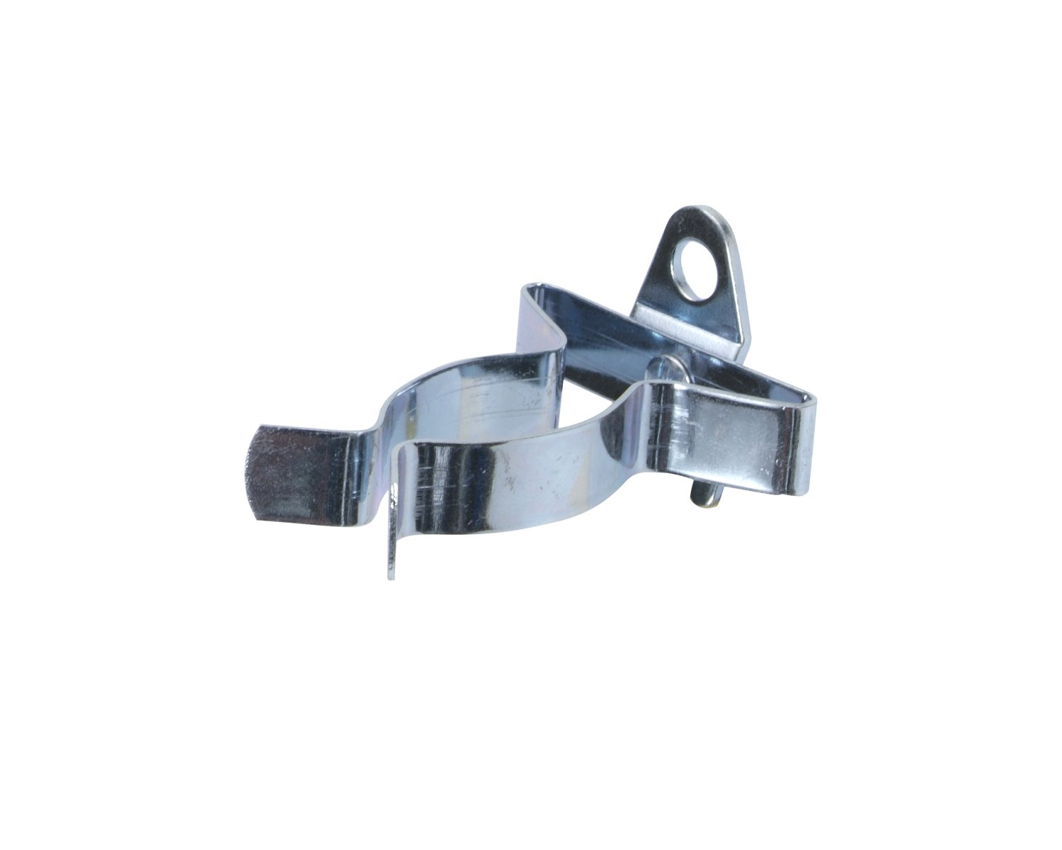 Triton Products 1 In. to 2 In. Hold Range 2-7/8 In. Projection, Annealed Chromate Dipped Steel Ext Spg Clips for DuraBoard or 1/8 In. and 1/4 In. Pegboard, 5 Pack