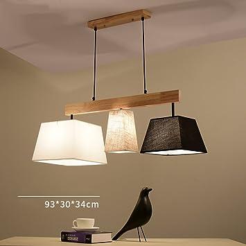 Kmmk Kreative Wohnzimmer Kronleuchter, American Restaurant Beleuchtung,  Einfache Und Moderne Studie Kreative Holz Esstisch