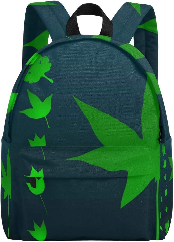DEZIRO Plant Leaves Set School Bag for Men Travel Bag
