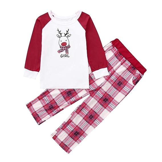 POLP Niño Regalo Navidad Bebe Pijama Rojo Disfraz Ropa Invierno Bebe niña Unisex Manga Larga Camiseta