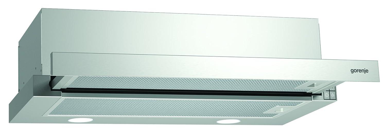 Gorenje BHP 623 E11X Flachschirmhaube / 60 cm/Ab- oder Umluftbetrieb möglich/Anti-Fingerprint-Beschichtung, edelstahl [Energieklasse C]