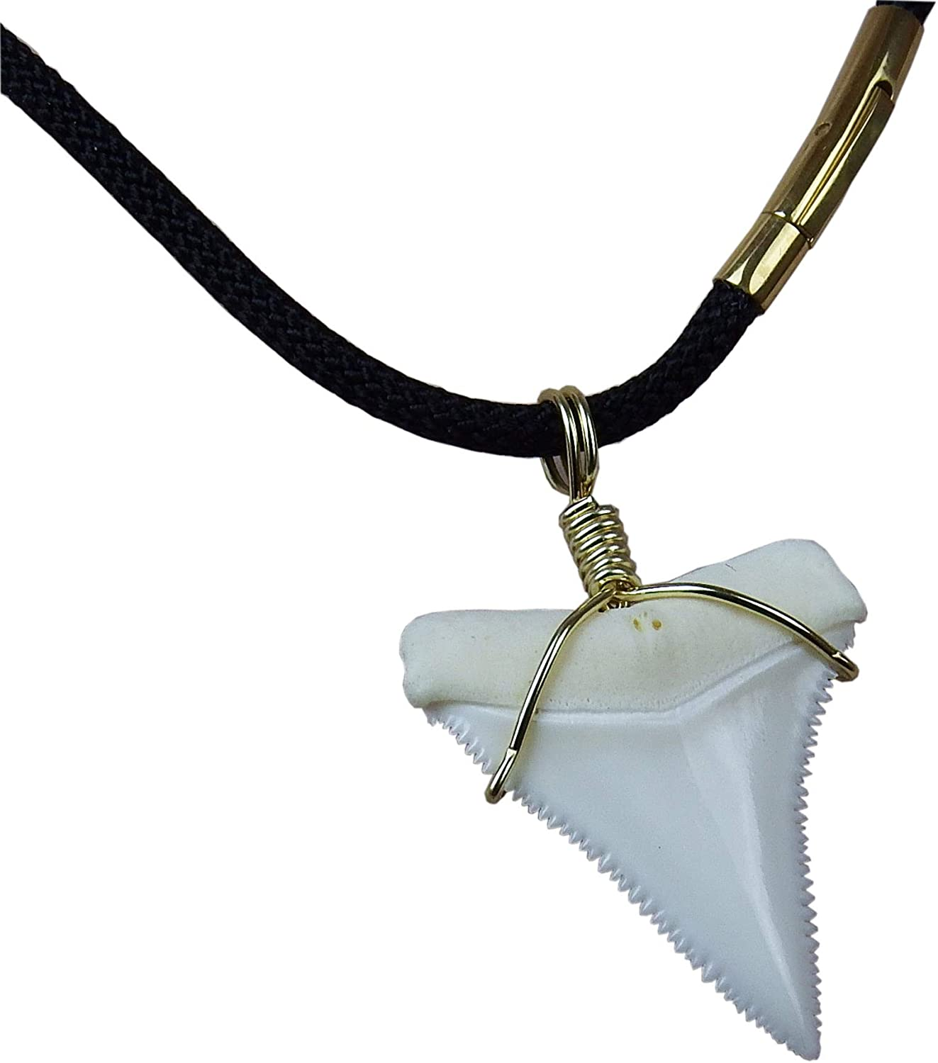DEJ-DRL14 Ceto Shark Tooth Necklace Large Gold Shark Tooth Real Shark Tooth Rope Long Layering Necklace Natural Tooth Shark Week