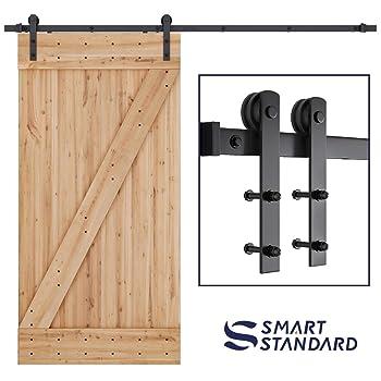 SMARTSTANDARD 8FT Barn Door Hardware Kit