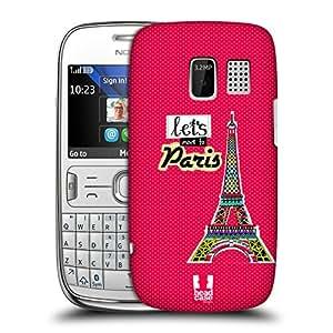 Head Case Designs Eiffel Tower Paris Aztec Landmark Doodles Protective Snap-on Hard Back Case Cover for Nokia Asha 302