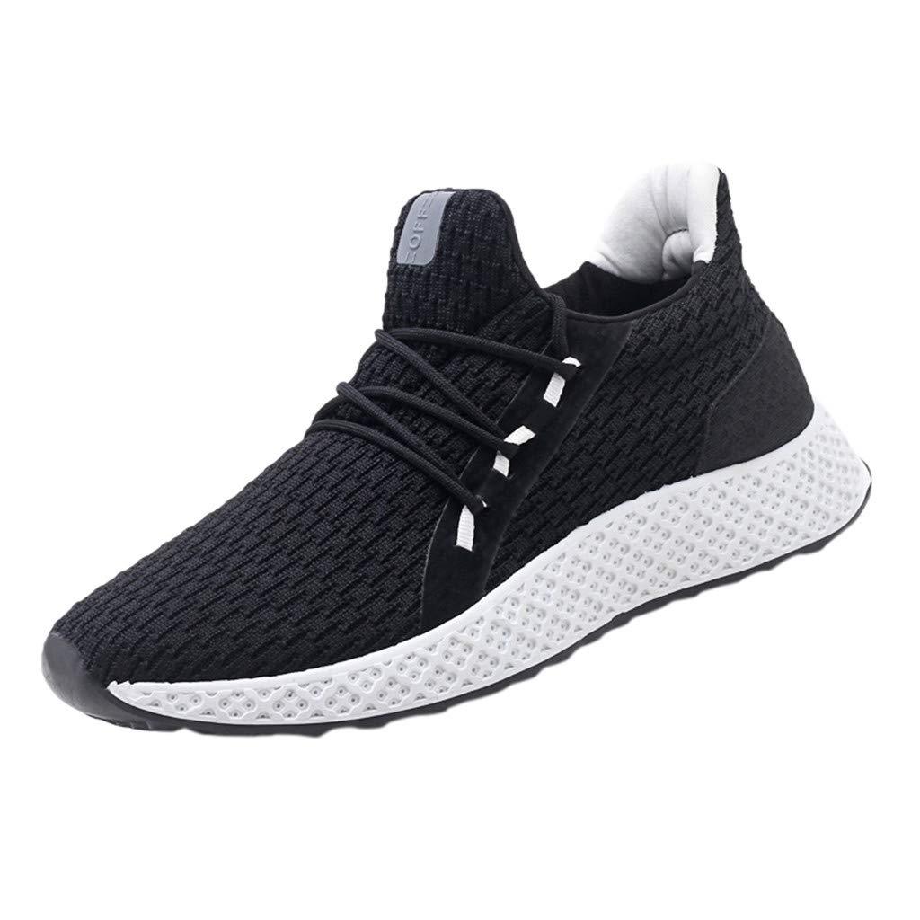 EUZeo Zapatillas de correr ligeras, estilo minimalista, para hombre, estilo casual, modernas, para fitness, descalzo, tejido a mano, transpirables, para exteriores ...