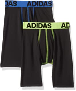 99e2bfd84246 adidas Boys   Youth Sport Performance Climalite Midway Long Boxer Brief  Underwear (2-Pack