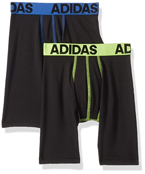 6a68ae5c77175 adidas Boys / Youth Sport Performance Climalite Midway Long Boxer Brief  Underwear (2-Pack)