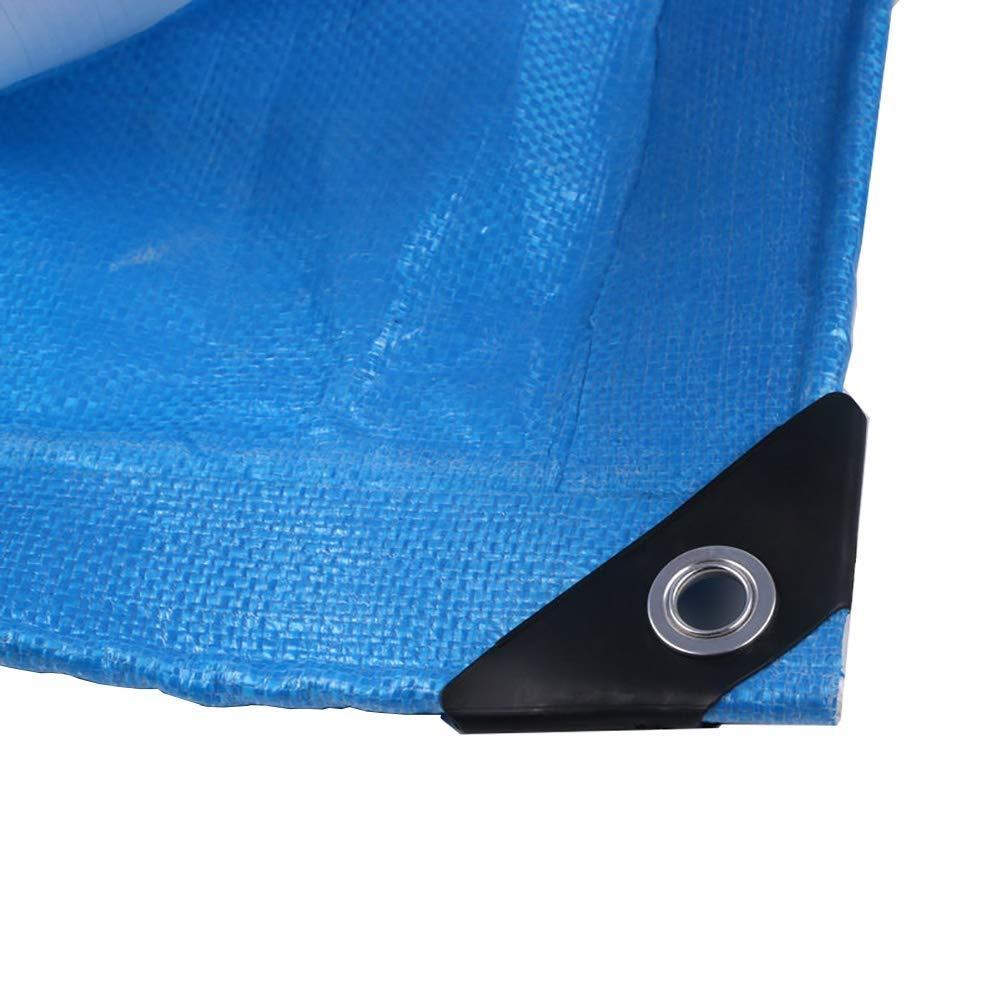 防水シートの屋外の防水頑丈な、トレーラーカバーポリエチレンのPEのボートのテントカバー防水シート FENGMIMG (色 : 青, サイズ さいず : 6×12m) 6×12m 青 B07QPK23XN