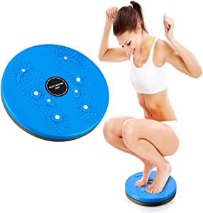 Twisting Waist Disc Exercise Twist Board Wobble Balance Board 10 inch Exercise Equipment Disc Non-slip Turntable - for Slimming Waist and Strengthening Abs Core Wobble Fitness Fit Waist Exercise