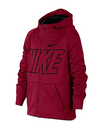 Nike B NK THRMA Hoodie FZ GFX - Sudadera, Niño, (Red Crush/
