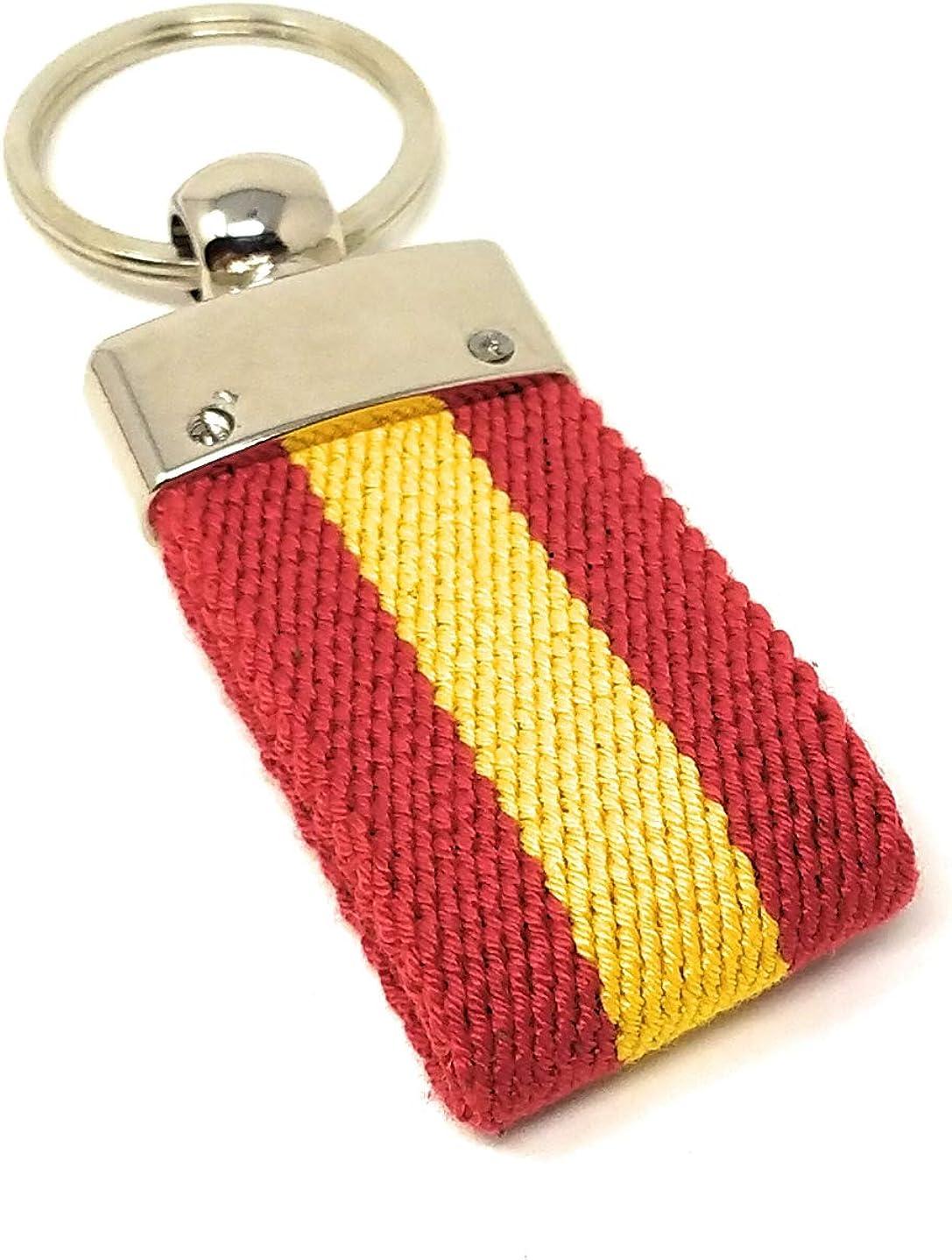 GOS Pack Pulsera + Llavero | Diseño Trenzado Bandera de España ...