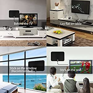 HDTV Antenna,Ranmon Indoor Amplified TV Antenna 50 Mile Range with Creative Adjustable Amplifier Booster, USB PowerSupply and 16FT High Performance Coax Cable …
