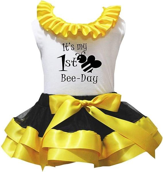 Petitebelle Chicas Lo s Mi primera camisa del día Pétalo amarillo ...