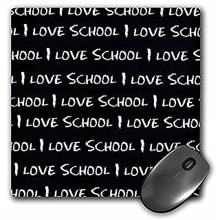 3dRose LLC 8 x 8 x 0.25 Inches Mouse Pad, I Love School Chalkboard (mp_183199_1)