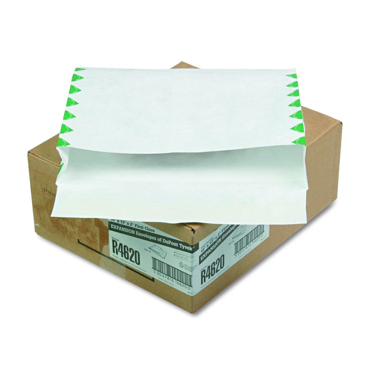 Survivor R4620 Tyvek Book Expansion Mailer, First Class, 10 x 13 x 2, White (Case of 100)