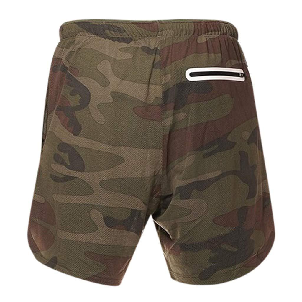 Kword Short da Allenamento Pantaloni Uomo Corti Fight Activewear con Coulisse Tasche Pantaloncini da Corsa Pantaloncini da Running da Uomo Pantalone Corti in Felpa di Cotone