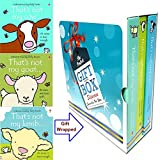 Fiona Watt's Usborne Books Set (That's Not My Cow, That's Not My Lamb, That's Not My Goat) 3 Books Bundle Gift Wrapped Slipcase Specially For You