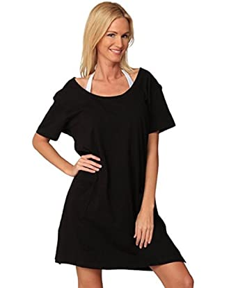 a007ed9cab347 INGEAR Womens Short Sleeve T-Shirt Cover Up Dress at Amazon Women's  Clothing store: