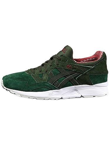 outlet store 90fe4 9eaa5 ASICS Men s Sneaker Gel-Lyte V Gold Plus Sneakers Dark Green Duffle Bag 46