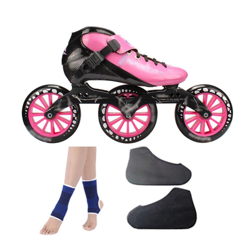 ZYH ローラースケートインラインスケートカーボンファイバースピードスケートシューズレーシングシューズプロの大人用子供用大型ローラースケートシューズローラースケートインラインローラースケートピンク。 (Color : PinkC, サイズ : 31)   B07R6K2XF1