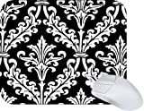 Rikki Knight Black and White Color Damask Design Mouse Pad Mousepad