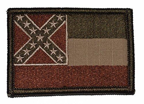 Mississippi State Flag - 3x2 Hat Patch - Coyote