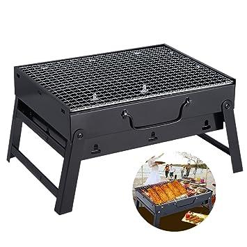 SUNRIS Parrilla para barbacoa compacta de carbón al aire libre plegable portátil Shashlik barbacoa parrilla casa