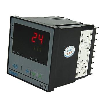 MagiDeal Termómetro Digital de Regulador Control Temperatura PID Dual 220v XMTA