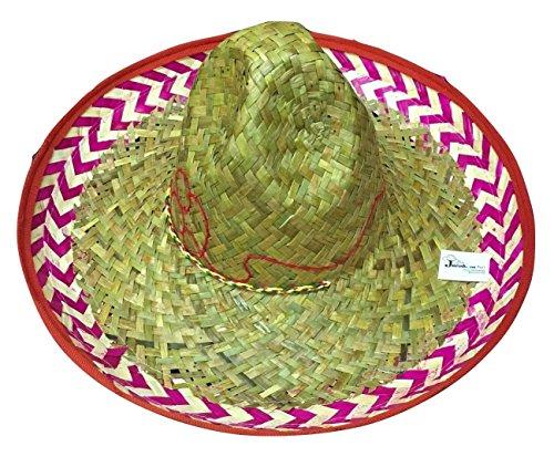 Red Salsa Spanish Mexican Fiesta Festive Sombrero Hat Costume Cinco de Mayo (Festive Costume)