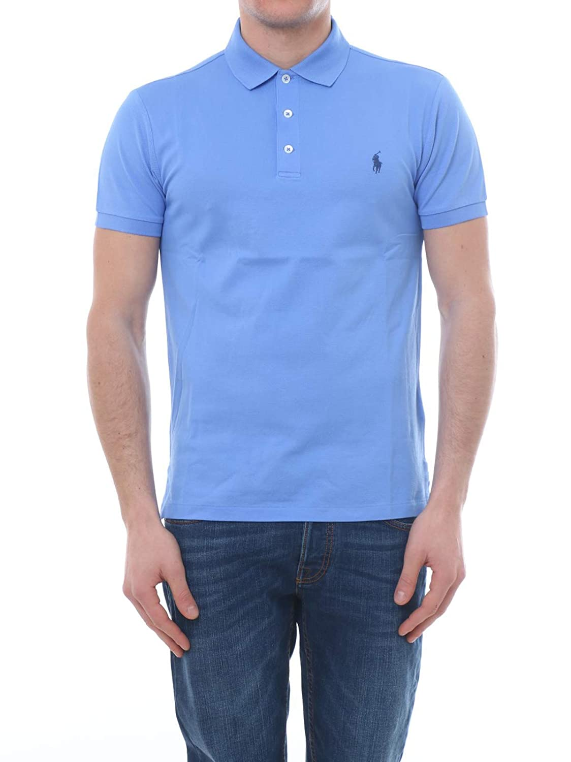 Bleu M Ralph Lauren manche courte Polo Shirt in Cotton, Homme.