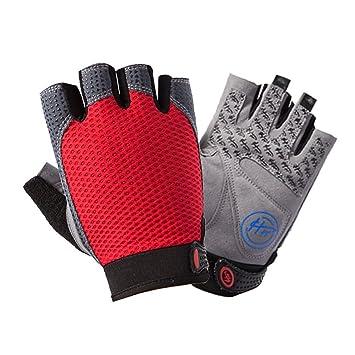f46a13dc2b5bdc Sport Fitness Handschuhe Herren Damen Halbfinger Fitnesshandschuhe Mesh  Atmungsaktive Anti-Rutsch Silica Gel Grip Flexibel