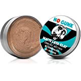 NO GUNK Argile Pâte Cire Coiffante Bio 100% Naturelle pour Cheveux Homme - Tenue Forte - Effet Mat - Matte Lava Clay