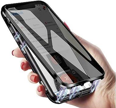 Coque iPhone SE 2020 - Coque iPhone SE2 - Protection intégrale en verre trempé double face - Absorption magnétique - Cadre en métal - Coque de ...