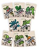 Vegetable Seeds Heirloom SillySeed Collection - 100% Non GMO. Veggie Garden Variety Pack: Tomato, Cucumber, Lettuce, Kale, Radish, Peas, Carrot, Jalapeno Pepper