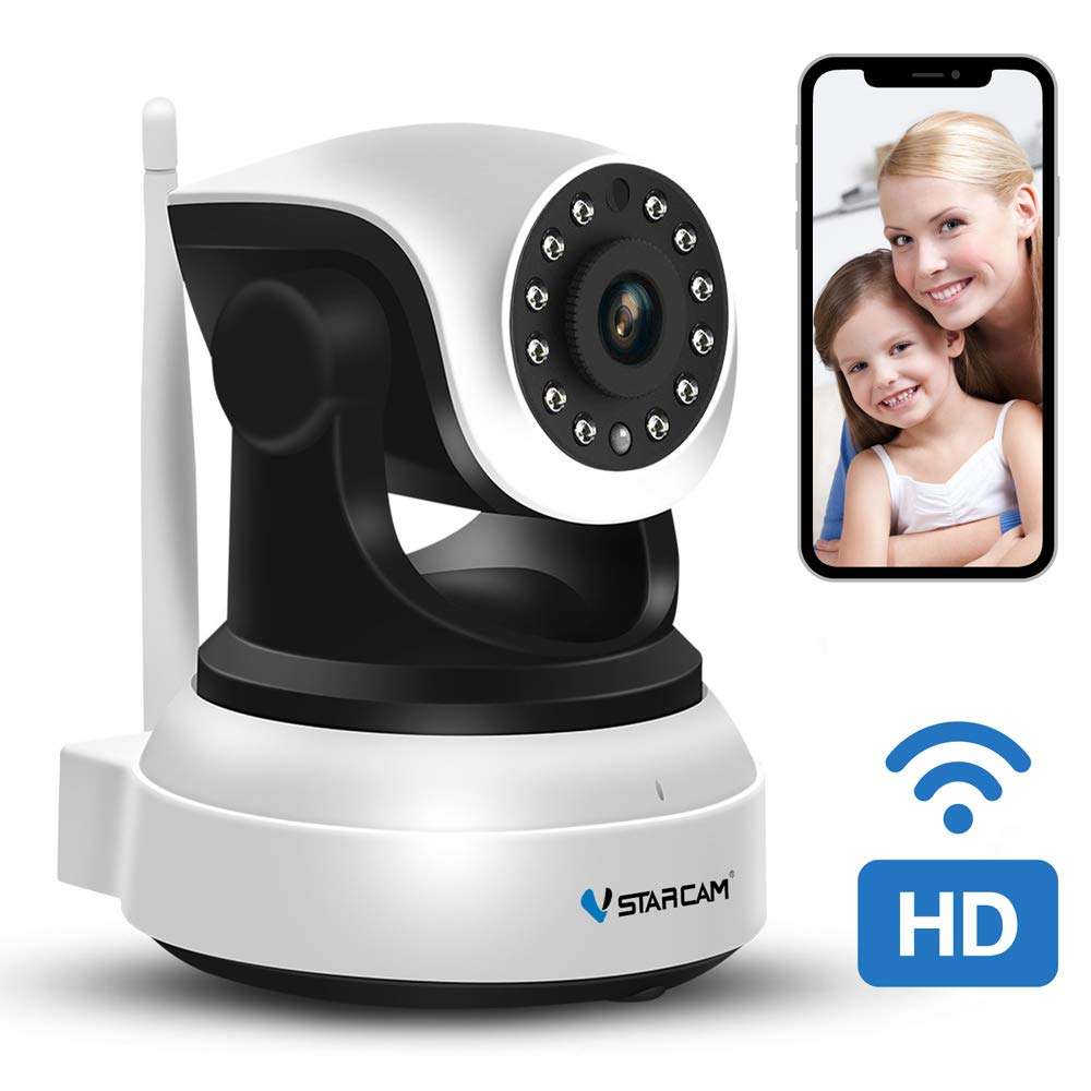 WiFi Camera 720P,VStarcam Remote WiFi Cam with Night Vision Security IP Camera for Indoor,2 Way Audio and Multi Users Home Security Monitoring Support Pan/Tilt /Zoom Motion Detection Pet Baby Cam
