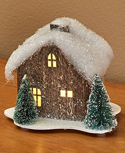The Lakeside Collection Lighted Miniature Winter Houses - 3 Windows by The Lakeside Collection