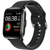 Smartklocka, YONMIG Fitness Tracker med puls/sömn/spO2/hjärta hälsa monitor, 18 sportlägen, DIY bakgrund, simläge…