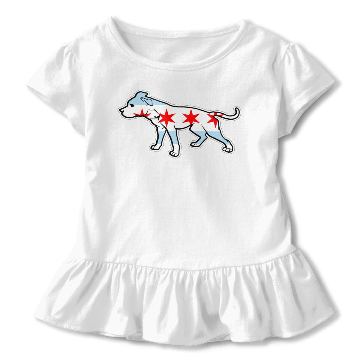 German Shorthaired Pointer in Glasses Baby Girls Short Sleeve T-Shirt Flounced Casual Shirt Dress for 2-6 Years Old Baby
